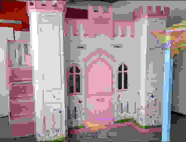 Precioso castillo Angelical en rosa de camas y literas infantiles kids world Clásico Derivados de madera Transparente