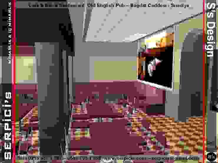 OLD ENGLİSH PUB SUADİYE - KAFE BAR RESTAURANT PROJELERİ - SERPİCİ's MİMARLIK ve İÇ MİMARLIK – S's Desıgn Rustik Bar & Kulüpler SERPİCİ's Mimarlık ve İç Mimarlık Architecture and INTERIOR DESIGN Rustik Ahşap-Plastik Kompozit
