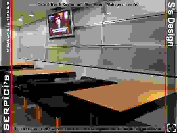 EREL KAFE MALTEPE - KAFE BAR RESTAURANT PROJELERİ - SERPİCİ's MİMARLIK ve İÇ MİMARLIK – S's Desıgn SERPİCİ's Mimarlık ve İç Mimarlık Architecture and INTERIOR DESIGN Modern Granit