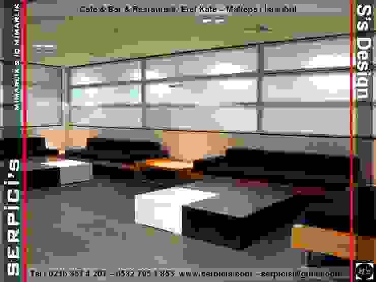 de SERPİCİ's Mimarlık ve İç Mimarlık Architecture and INTERIOR DESIGN Moderno Derivados de madera Transparente