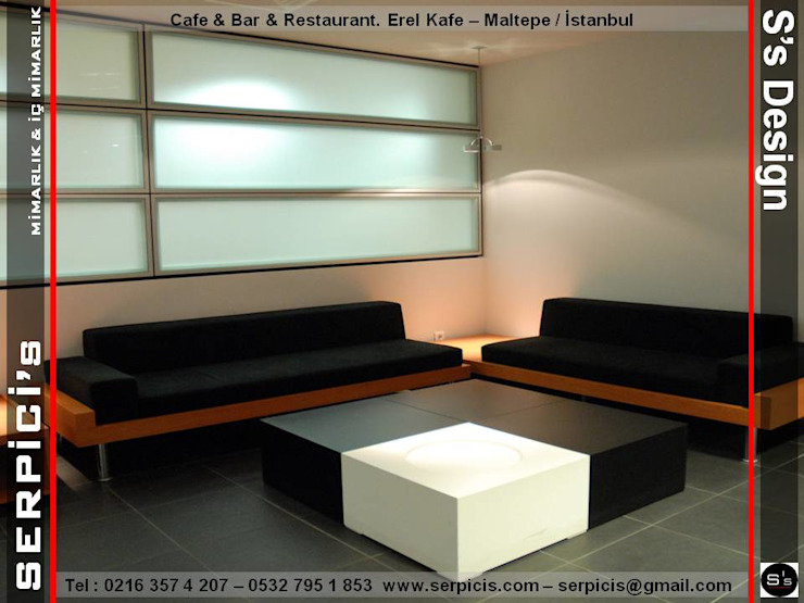 EREL KAFE MALTEPE - KAFE BAR RESTAURANT PROJELERİ - SERPİCİ's MİMARLIK ve İÇ MİMARLIK – S's Desıgn SERPİCİ's Mimarlık ve İç Mimarlık Architecture and INTERIOR DESIGN Modern Metal