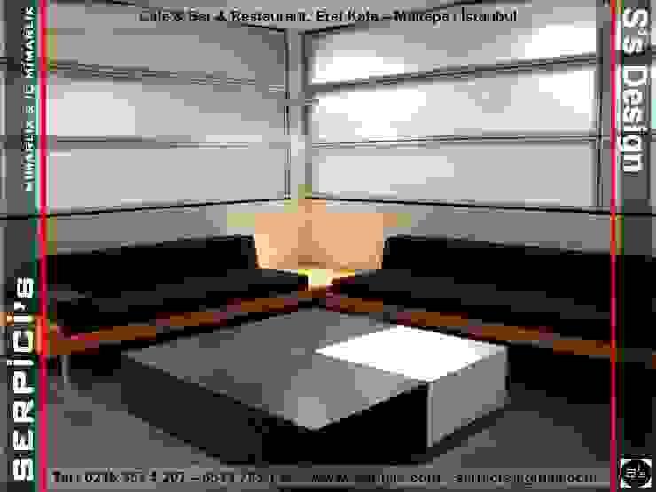 EREL KAFE MALTEPE - KAFE BAR RESTAURANT PROJELERİ - SERPİCİ's MİMARLIK ve İÇ MİMARLIK – S's Desıgn SERPİCİ's Mimarlık ve İç Mimarlık Architecture and INTERIOR DESIGN Modern Masif Ahşap Rengarenk