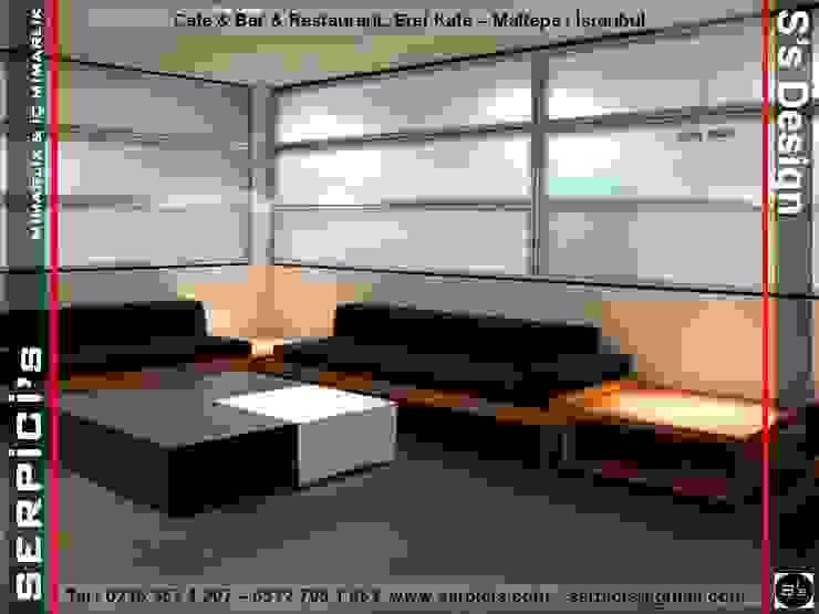 Modern gastronomy by SERPİCİ's Mimarlık ve İç Mimarlık Architecture and INTERIOR DESIGN Modern Sandstone