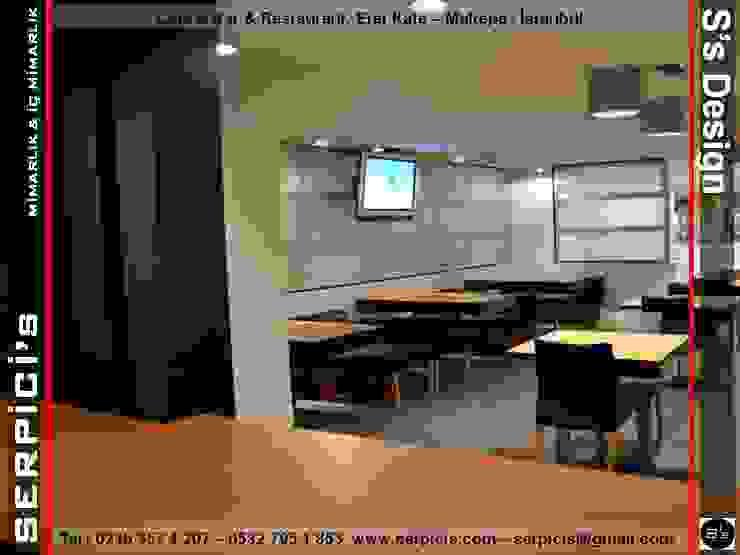 Modern gastronomy by SERPİCİ's Mimarlık ve İç Mimarlık Architecture and INTERIOR DESIGN Modern Aluminium/Zinc