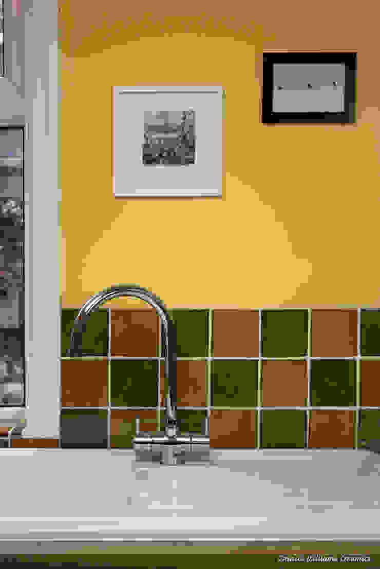 Green & Yellow Wall Tiles | Traditional Range Deiniol Williams Ceramics 牆面 陶器