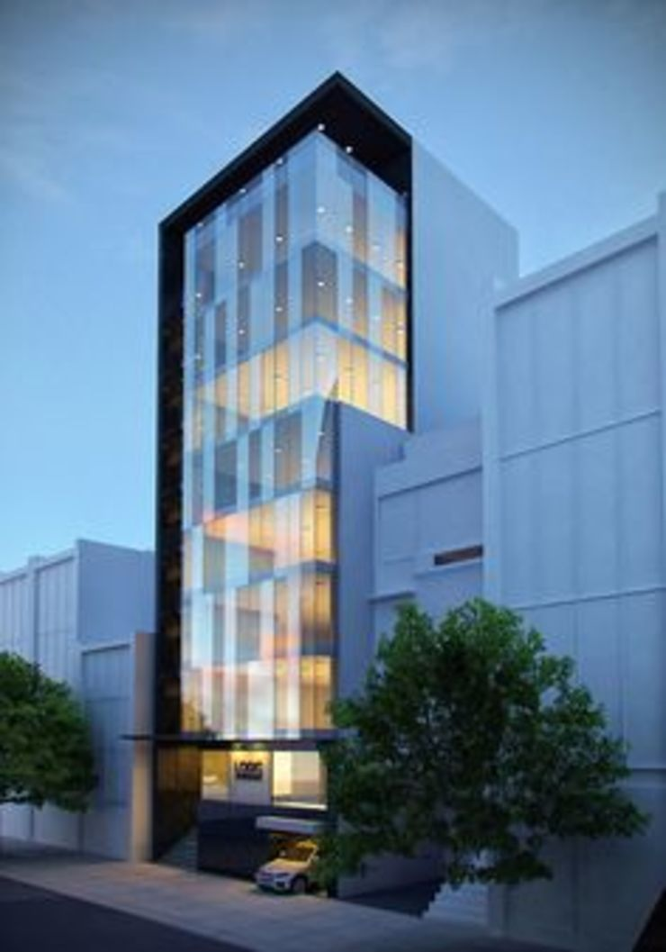 Elevation Modern hotels by NEW AGE ARCHITECTURAL SYSTEMS. Modern Glass