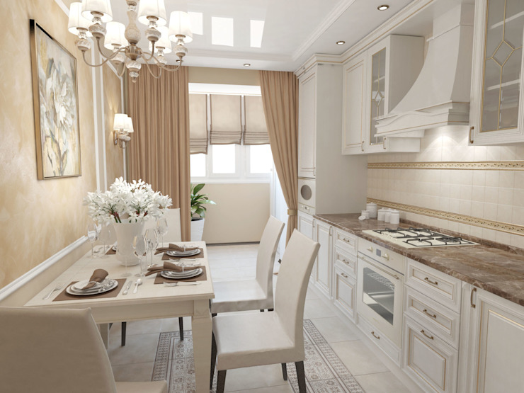 Cuisine classique par Первое Дизайн-Бюро Classique