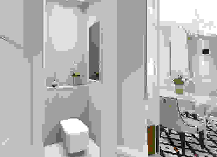 apartment Eclectic style bathroom by KOKON zespół architektoniczny Eclectic