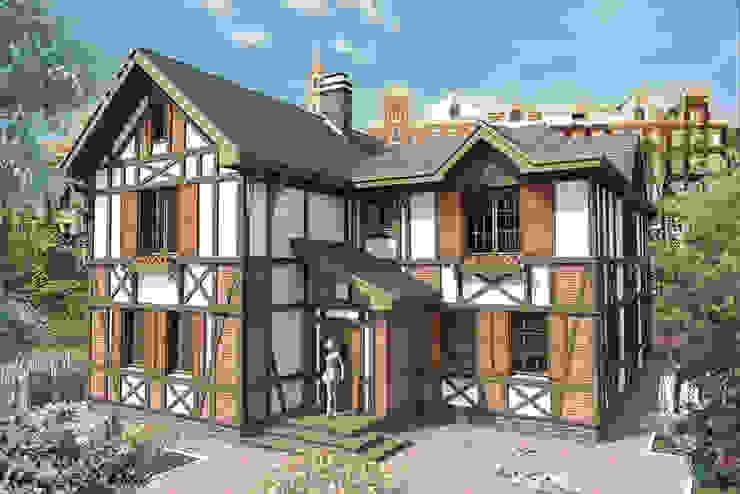 Общий вид/Модель Дома в эклектичном стиле от Fusion House Эклектичный