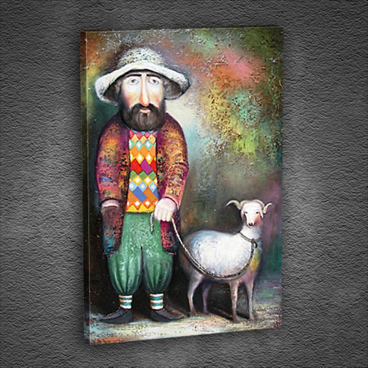 Sheep and Man Tablo: classic  by Tabloda, Classic