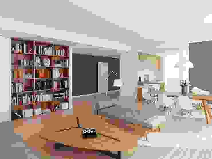 APARTAMENTO - T3 DUPLEX - ESTRELA Salas de estar modernas por EU LISBOA Moderno
