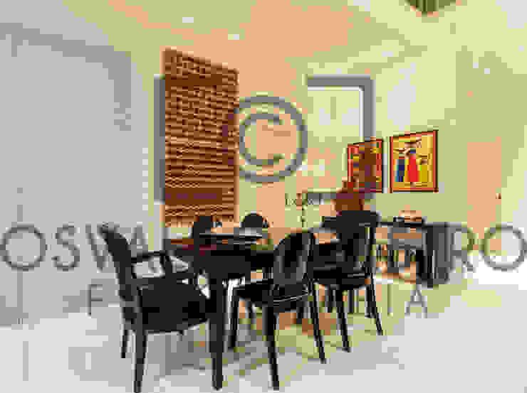 JANAINA NAVES - Design & Arquitetura Modern dining room Wood-Plastic Composite Black