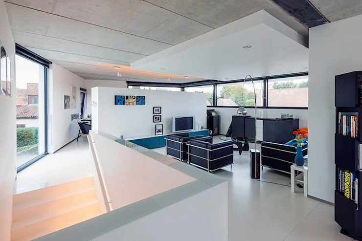 Livings modernos: Ideas, imágenes y decoración de Architectenbureau Dirk Nijsten bvba Moderno