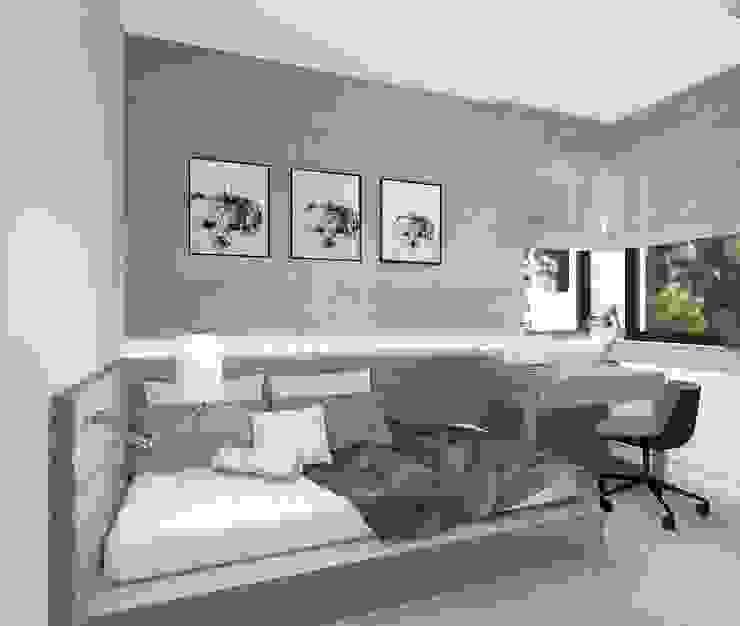 Modern style study/office by Kołodziej & Szmyt Projektowanie wnętrz Modern