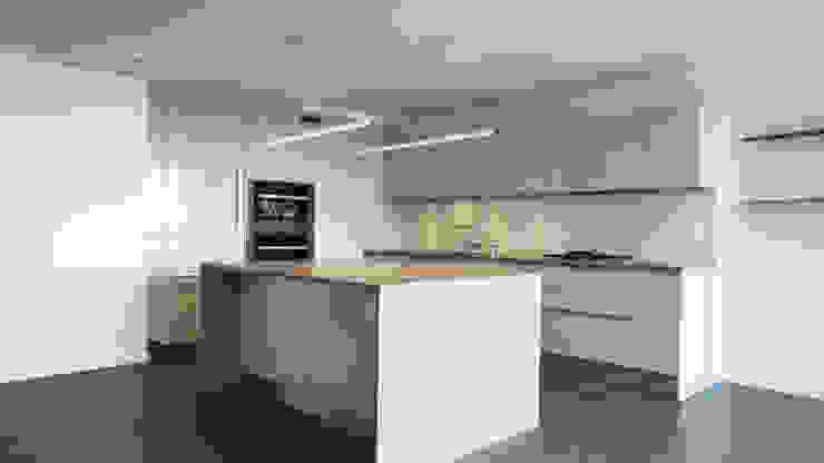 Duplex Apartment Gut Renovation Modern Kitchen by Atelier036 Modern