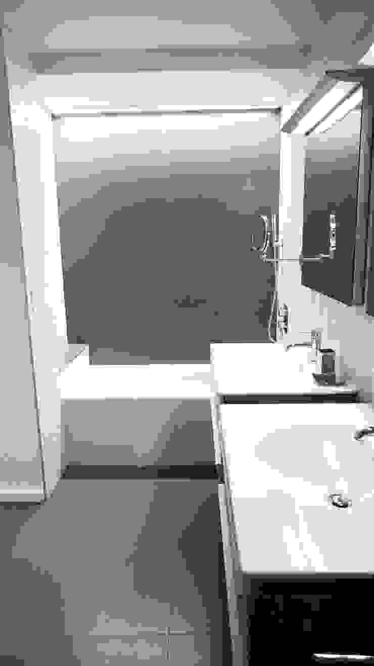 Duplex Apartment Gut Renovation Modern Bathroom by Atelier036 Modern