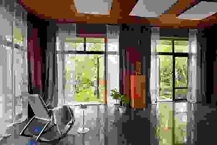 Elephant - загородный дом для активного отдыха Зимний сад в стиле модерн от Irina Derbeneva Модерн