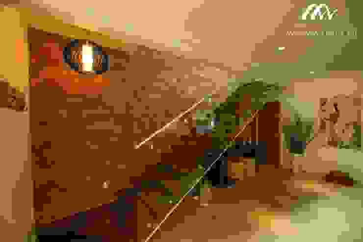 鄉村風格的走廊,走廊和樓梯 根據 Mariana Chalhoub 田園風
