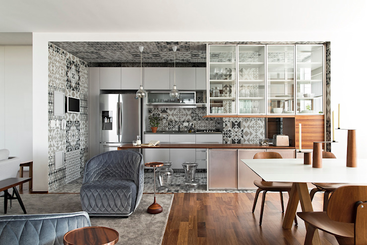 360º Apartment Cozinhas modernas por DIEGO REVOLLO ARQUITETURA S/S LTDA. Moderno