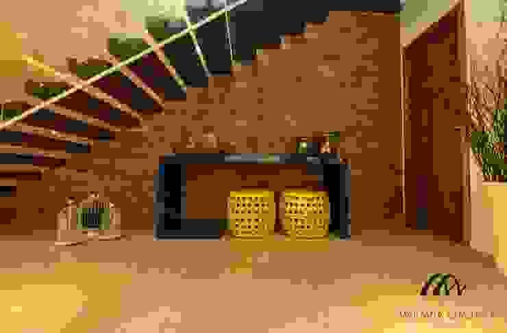Pasillos, vestíbulos y escaleras de estilo rústico de Mariana Chalhoub Rústico