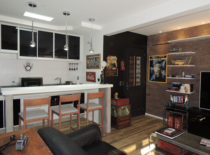 Eclectic style kitchen by Dimensione Arquitetura Eclectic