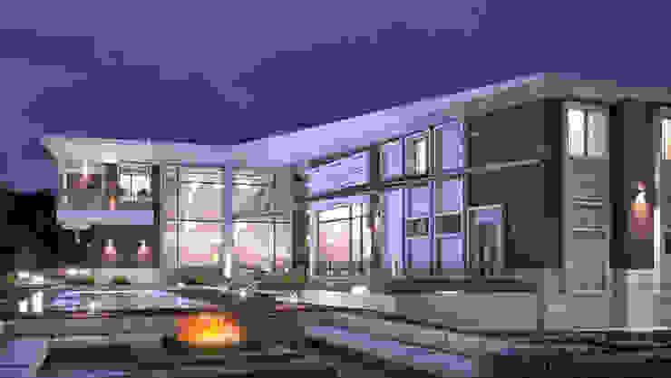 Pivot house BOOS architects Дома в стиле минимализм Кирпичи Коричневый