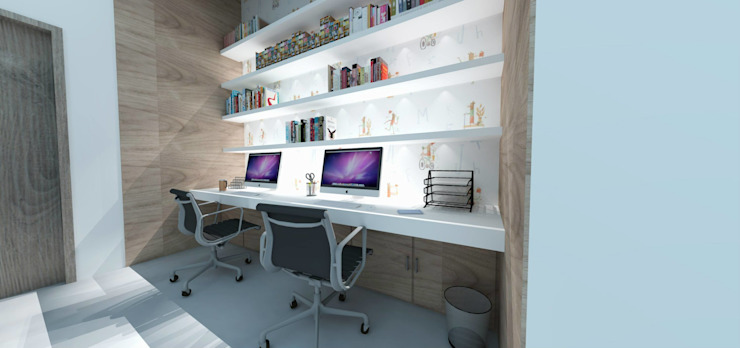 MC Modern Study Room and Home Office by TAMEN arquitectura Modern