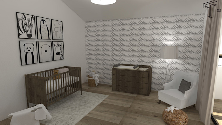 A Modern Kid's Room by TAMEN arquitectura Modern