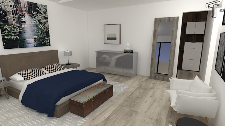 Chambre moderne par TAMEN arquitectura Moderne