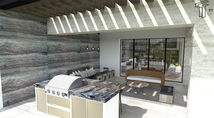 Patios & Decks by TAMEN arquitectura, Modern