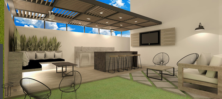 SS Modern Terrace by TAMEN arquitectura Modern