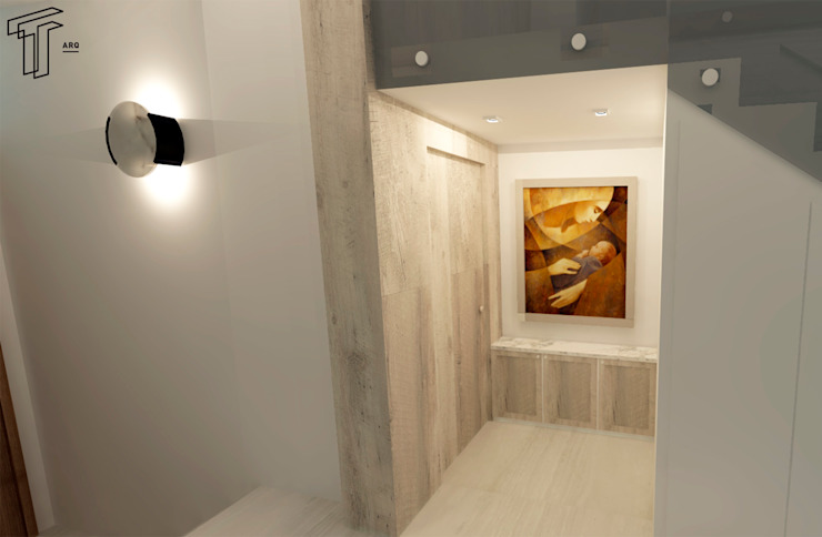 CO Modern Corridor, Hallway and Staircase by TAMEN arquitectura Modern