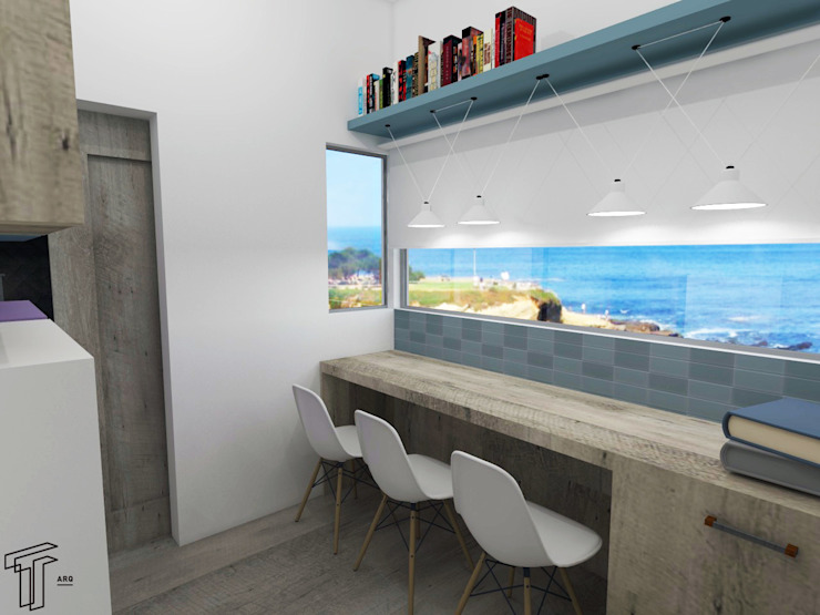 CO Modern Study Room and Home Office by TAMEN arquitectura Modern