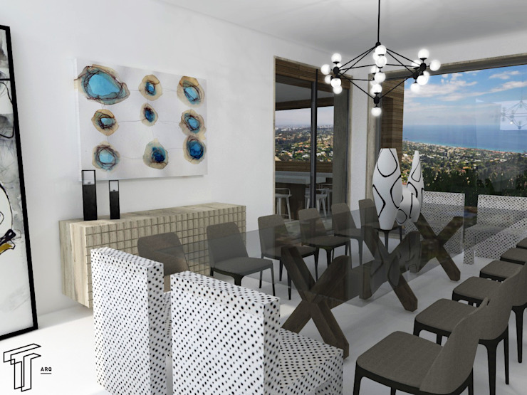 CO Modern Dining Room by TAMEN arquitectura Modern