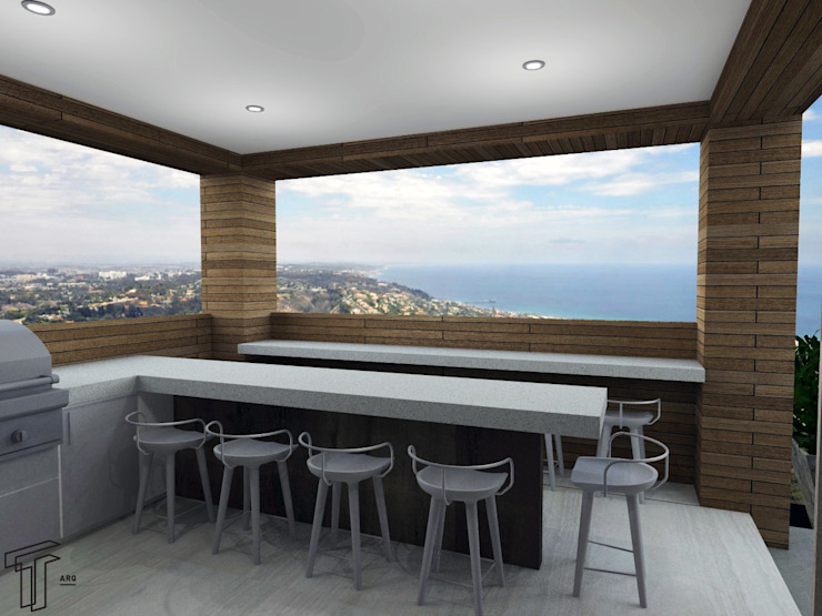 Modern balcony, veranda & terrace by TAMEN arquitectura Modern