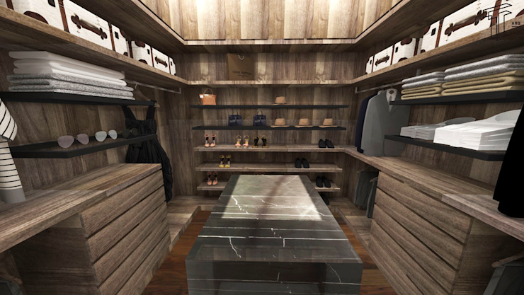 TAMEN arquitectura Modern style dressing rooms