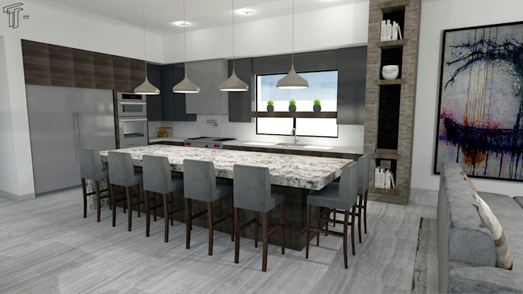 TAMEN arquitectura Modern style kitchen