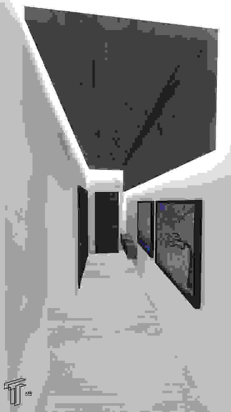 TAMEN arquitectura Modern corridor, hallway & stairs