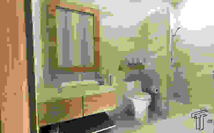 Baños de estilo  por TAMEN arquitectura