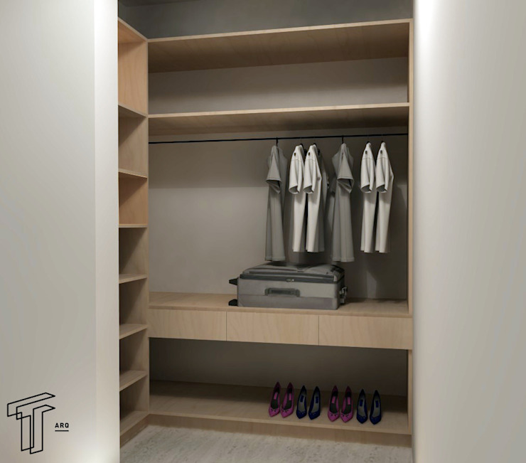 P Modern Dressing Room by TAMEN arquitectura Modern