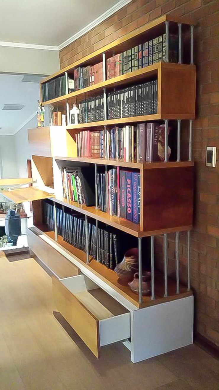 Biblioteca Bar de Reforma Arquitectura SpA Moderno Madera Acabado en madera