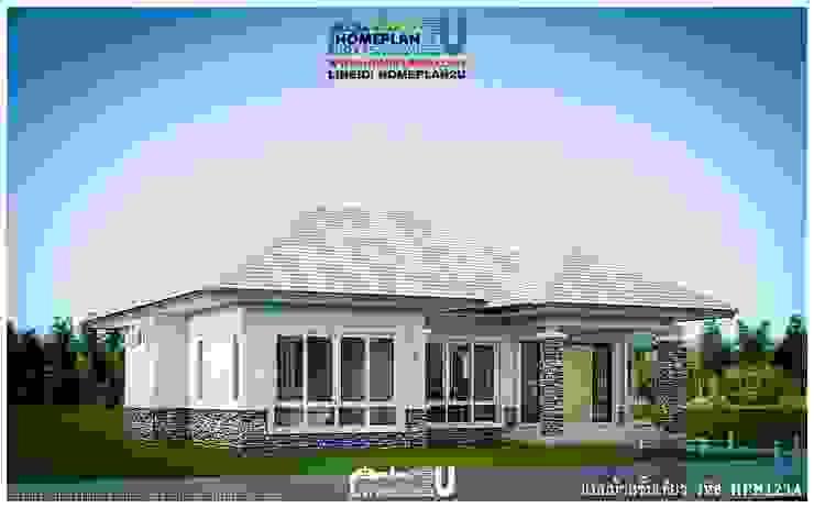 แบบบ้านชั้นเดียว HPM123A โดย แบบแปลนบ้านสำเร็จรูป