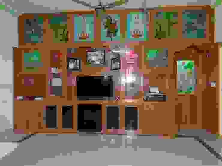 сучасний  by balabharathi pvc interior design, Сучасний Дерево-пластичний композит