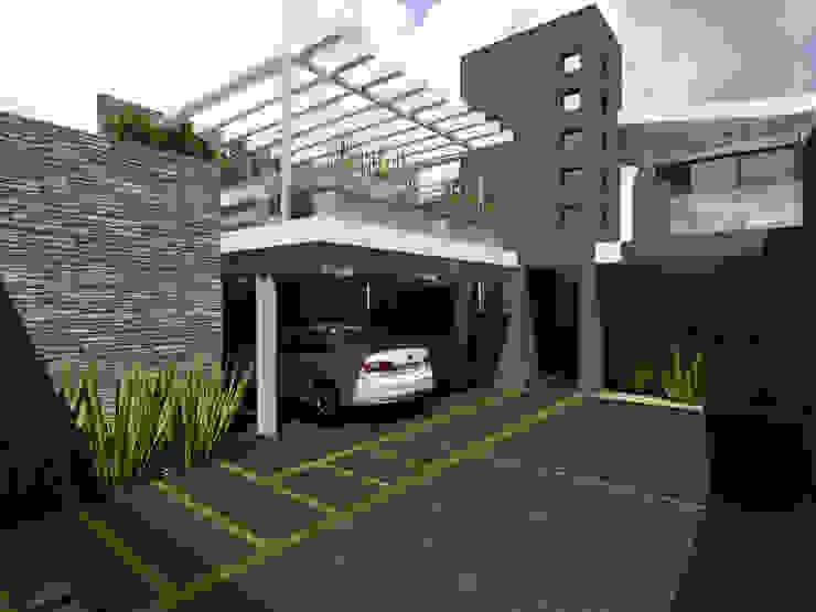 Patio Jardín Jardines modernos de Arqternativa Moderno Concreto