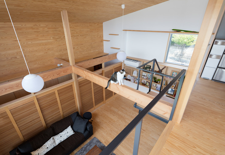 아시아스타일 거실 by ろく設計室 한옥