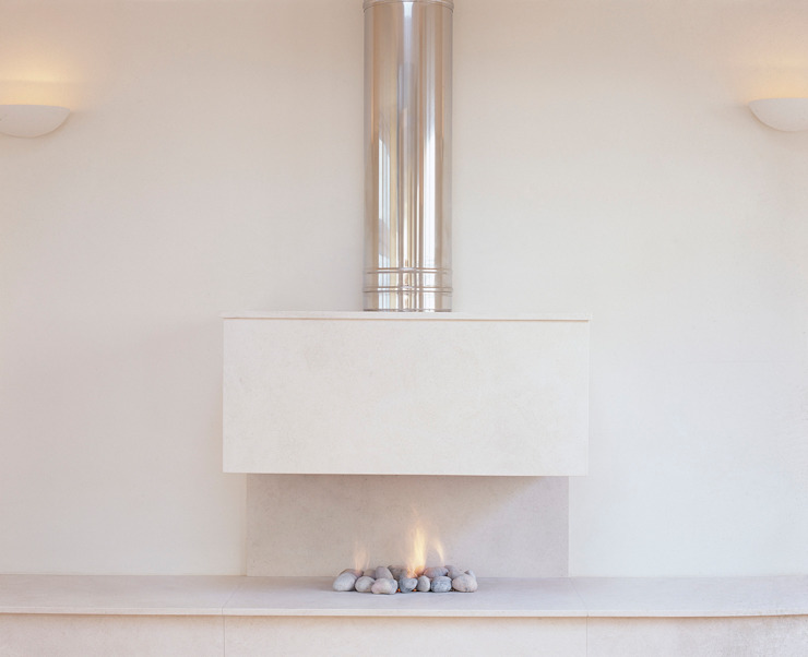 Bespoke Fireplaces Salas de estilo moderno de The Platonic Fireplace Company Moderno