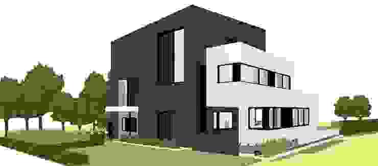 Voorgevel Moderne huizen van AVENIRarchitecten bvba Modern Aluminium / Zink