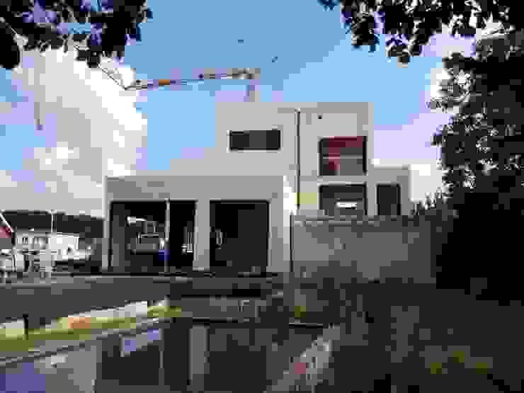 Verbouwing: appartementen + bureauruimte Moderne huizen van AVENIRarchitecten bvba Modern Hout Hout