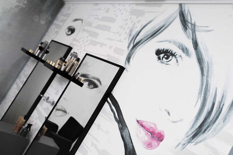 The style used inside the salon was a magazine drawing Pixers
