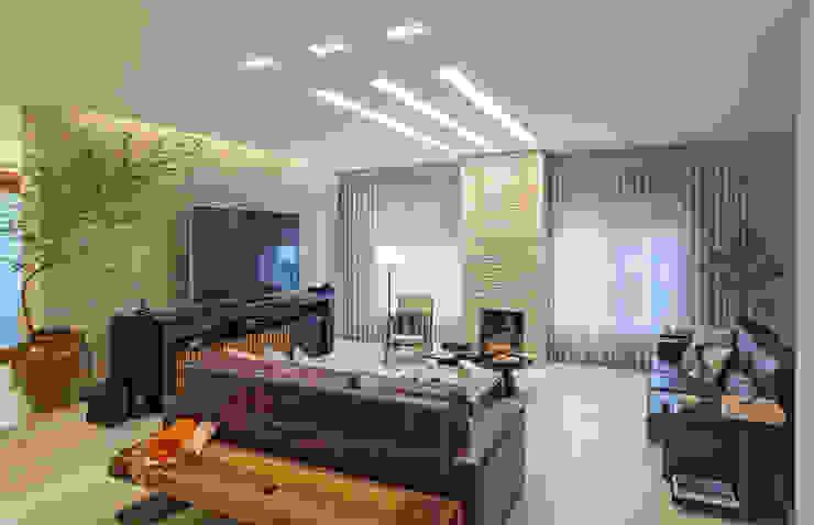 Salones de estilo moderno de Carmen Calixto Arquitetura Moderno